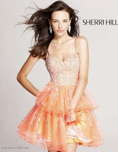 Sherri Hill Short Winter Formal Party Dress 8436: French Novelty