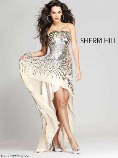Sherri Hill 8439 Sequin Dress: French Novelty