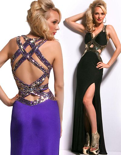 Cassandra Stone By Macduggal Sequin Cut Out Prom Dress 85019a French Novelty