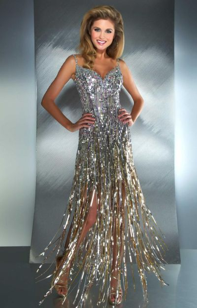 Fringe Ball Gown