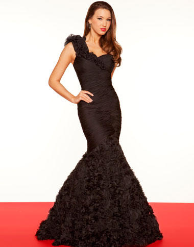 Mac Duggal Black And White Mermaid Evening Dress 85099r French Novelty