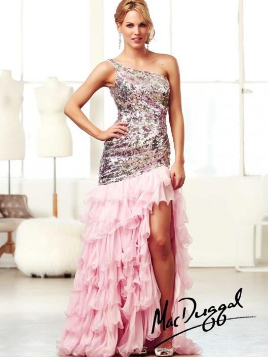 e927565d5c1 Mac Duggal Ball Gowns 85125H High Low Ruffle Dress  French Novelty