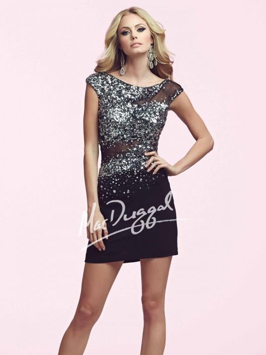 3900c3c5387 Mac Duggal 85391N Short Sparkling Dress  French Novelty