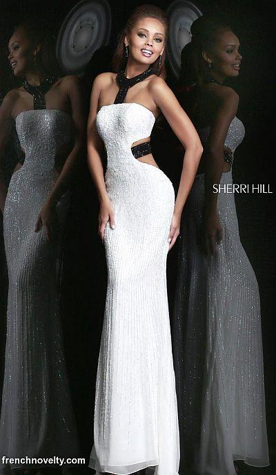 Sherri Hill 8541 Bra Back Evening Dress: French Novelty