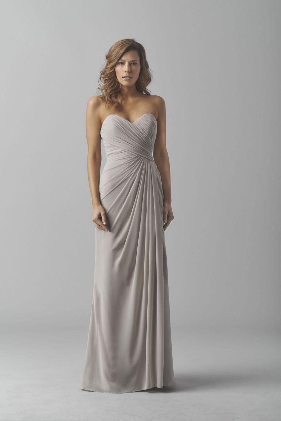Watters 8541 draped chiffon bridesmaid gown french novelty for Watters wtoo wedding dresses
