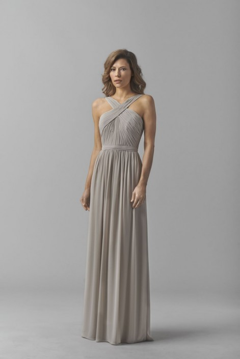 Halter Chiffon Bridesmaid Dresses