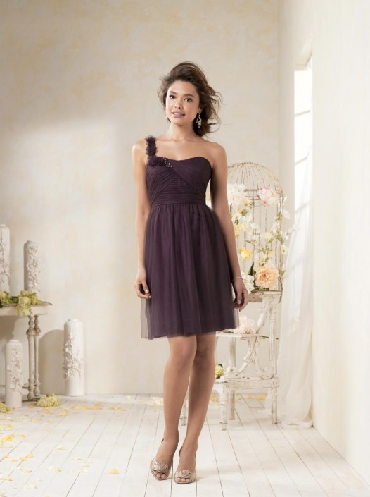 6e2050a5cf0 Alfred Angelo Modern Vintage 8612L One Shoulder Long Bridesmaid Dress  French  Novelty