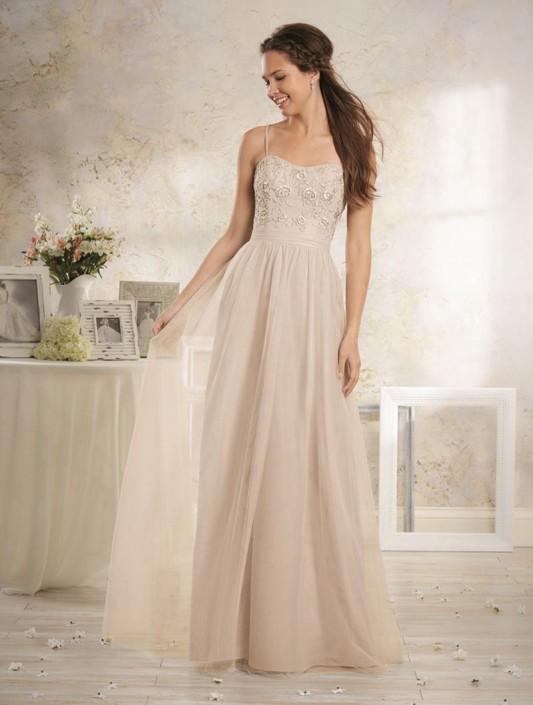 Alfred Angelo Modern Vintage 8633L Embroidered Bridesmaid Gown ...