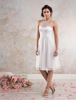b3515a39ee6 Alfred Angelo Modern Vintage 8634S Short Halter Bridesmaid Dress