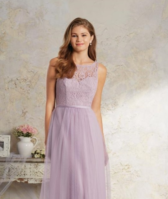 Alfred Angelo Modern Vintage 8642S Short Lace Bridesmaid Dress