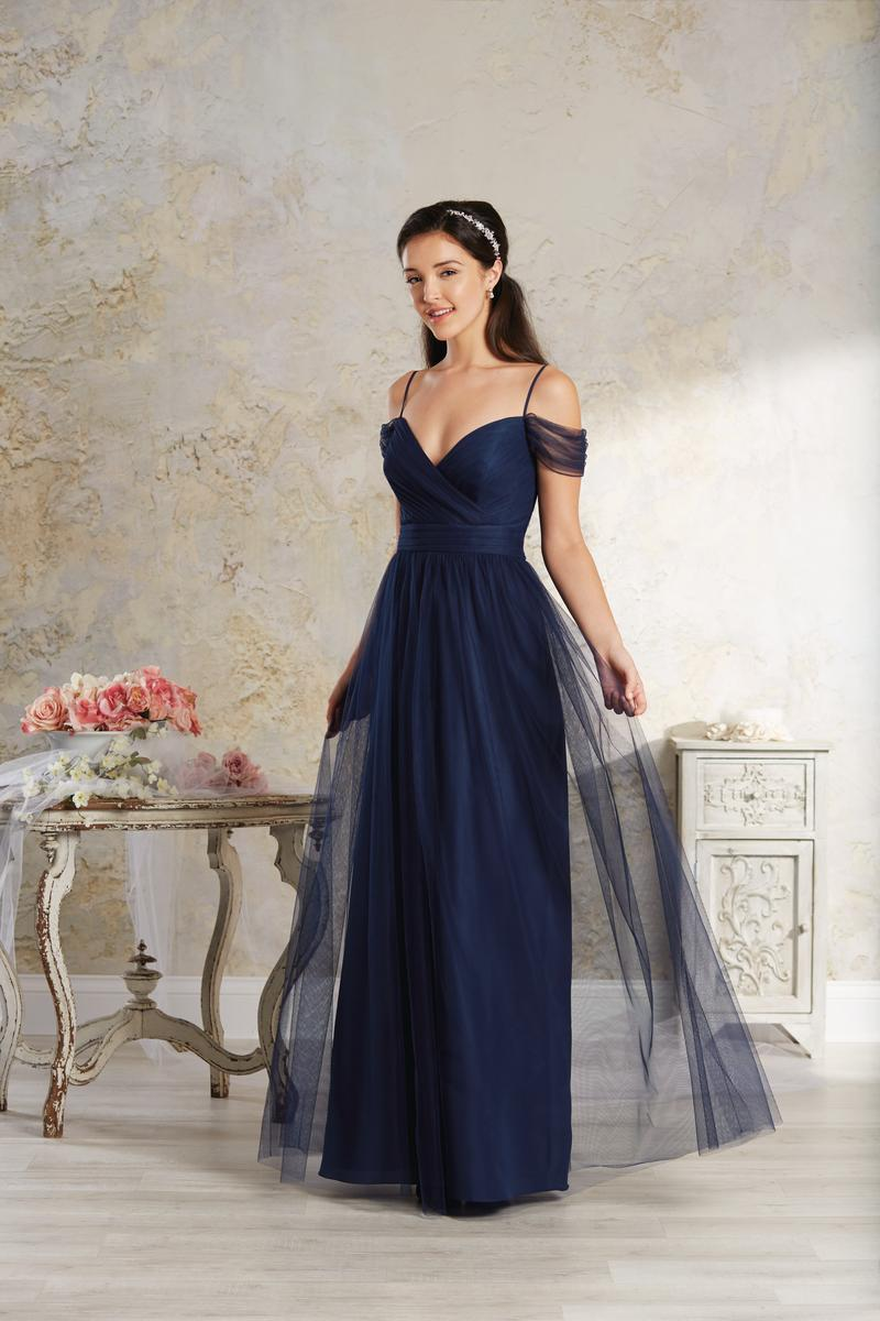 Size 14 Ink Alfred Angelo Modern Vintage 8644l Long Bridesmaid Dress French Novelty