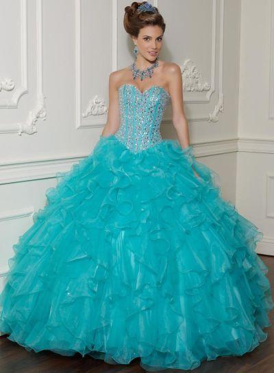 Vizcaya Beaded Ruffle Organza Quinceanera Dress by Mori Lee 88001 ...