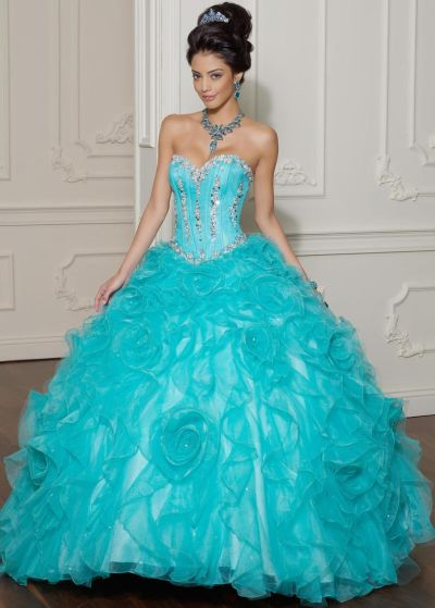 a2c0066434 Vizcaya Organza Ruffle Quinceanera Ball Gown by Mori Lee 88011  French  Novelty