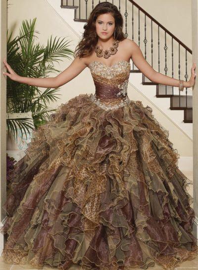 Print Quinceanera Dress