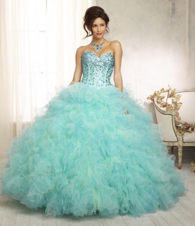 Vizcaya 88098 Two Tone Ruffle Quinceanera Dress French