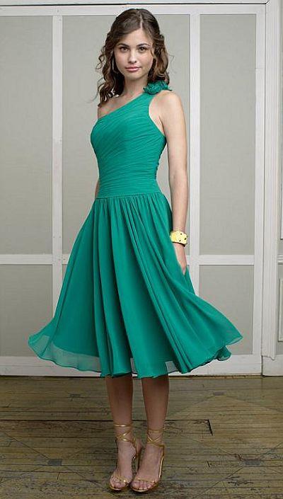 Mori Lee Affairs One Shoulder Chiffon Short Bridesmaid Dress 883 ...