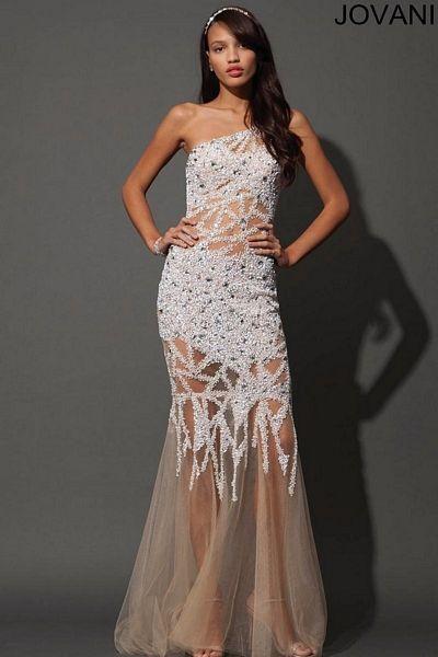 Sheer Beaded Gown