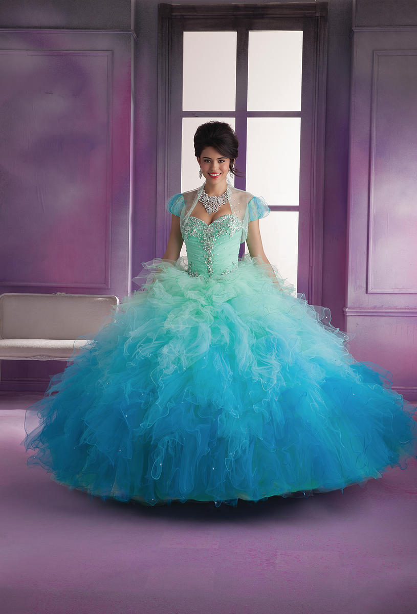 29d06a266d Vizcaya 89018 Ombre Ruffle Quinceanera Dress French Novelty
