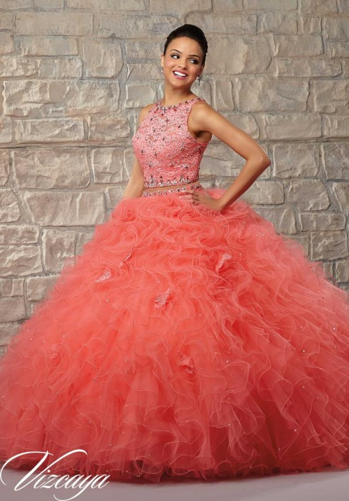 0a0bc535b39 Vizcaya 89026 Two Piece Quinceanera Dress  French Novelty