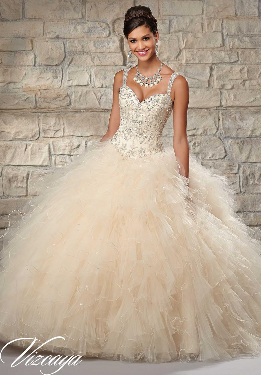 c73f8e4bb1 Vizcaya 89027 Ruffle Tulle Quince Dress  French Novelty