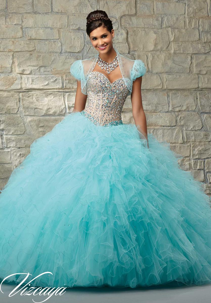 Quinceanera dresses aqua color