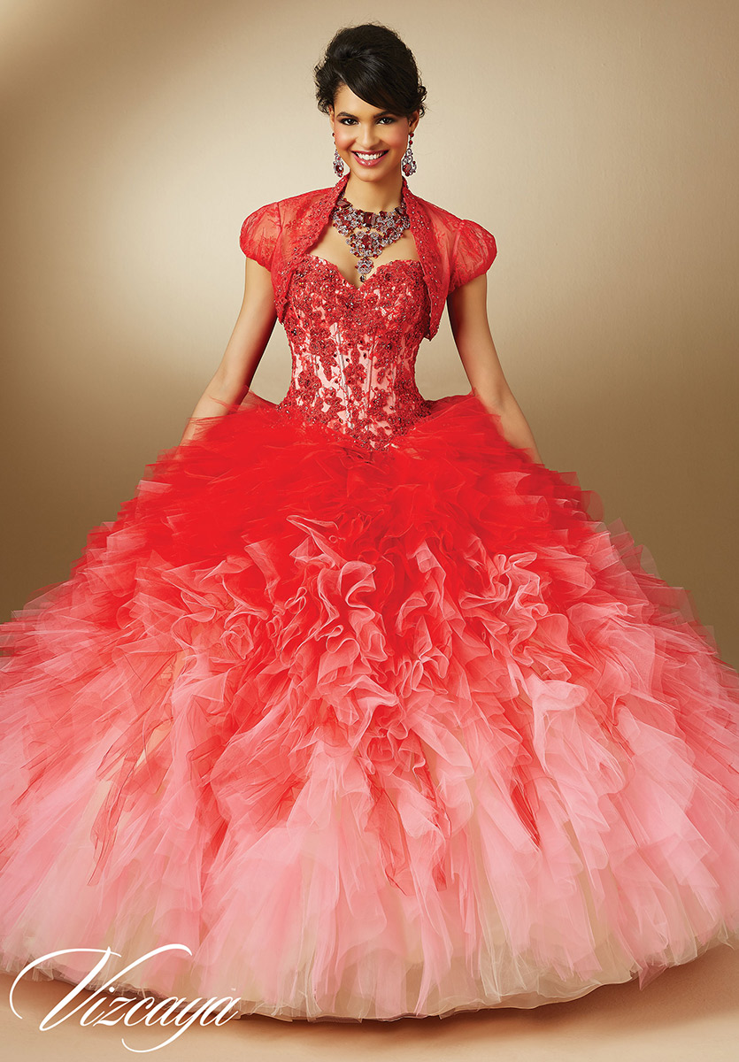 Vizcaya 89050 Ombre Quinceanera Dress French Novelty