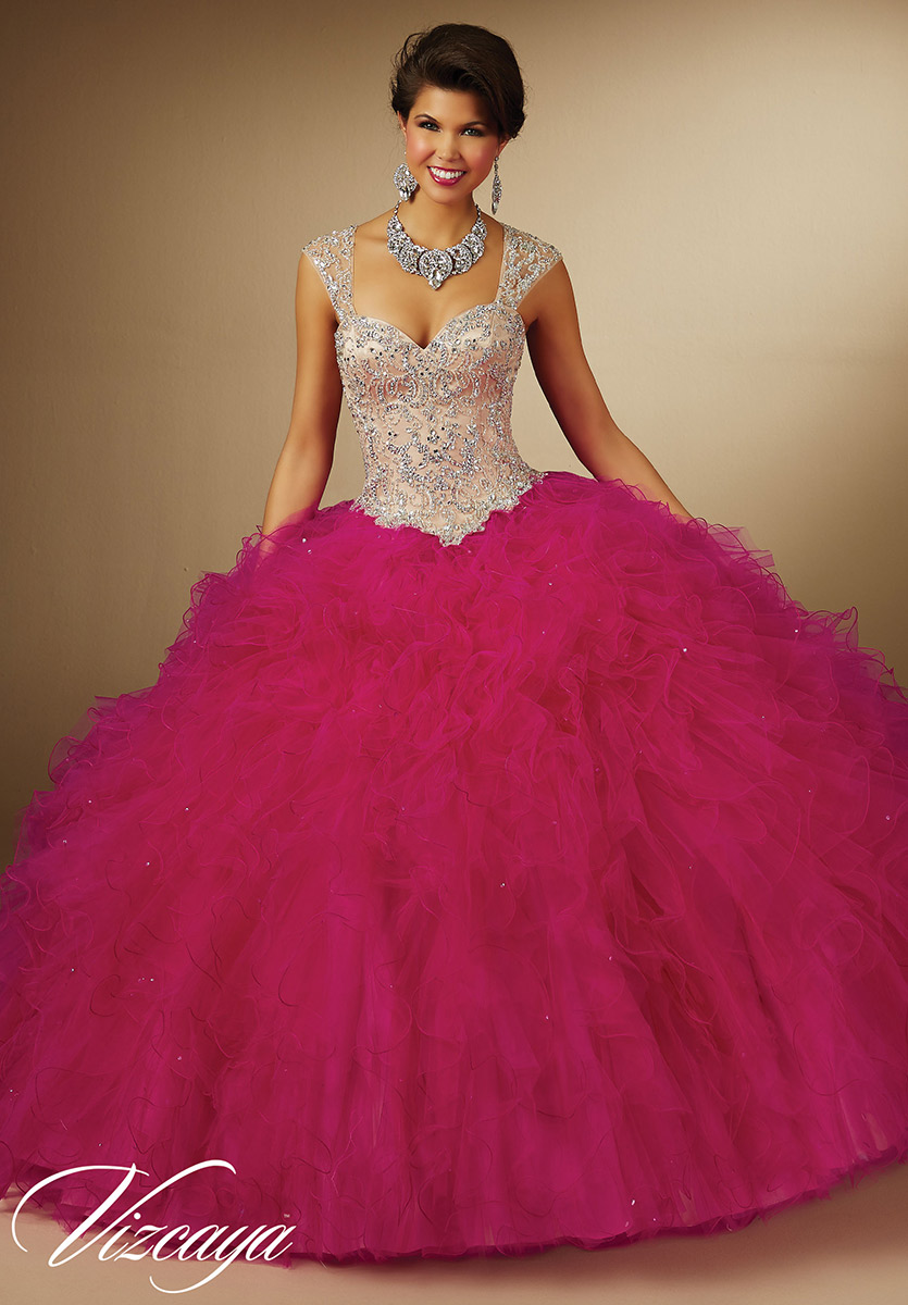 e5d9e83397 Vizcaya 89054 Ruffled Quinceanera Dress  French Novelty
