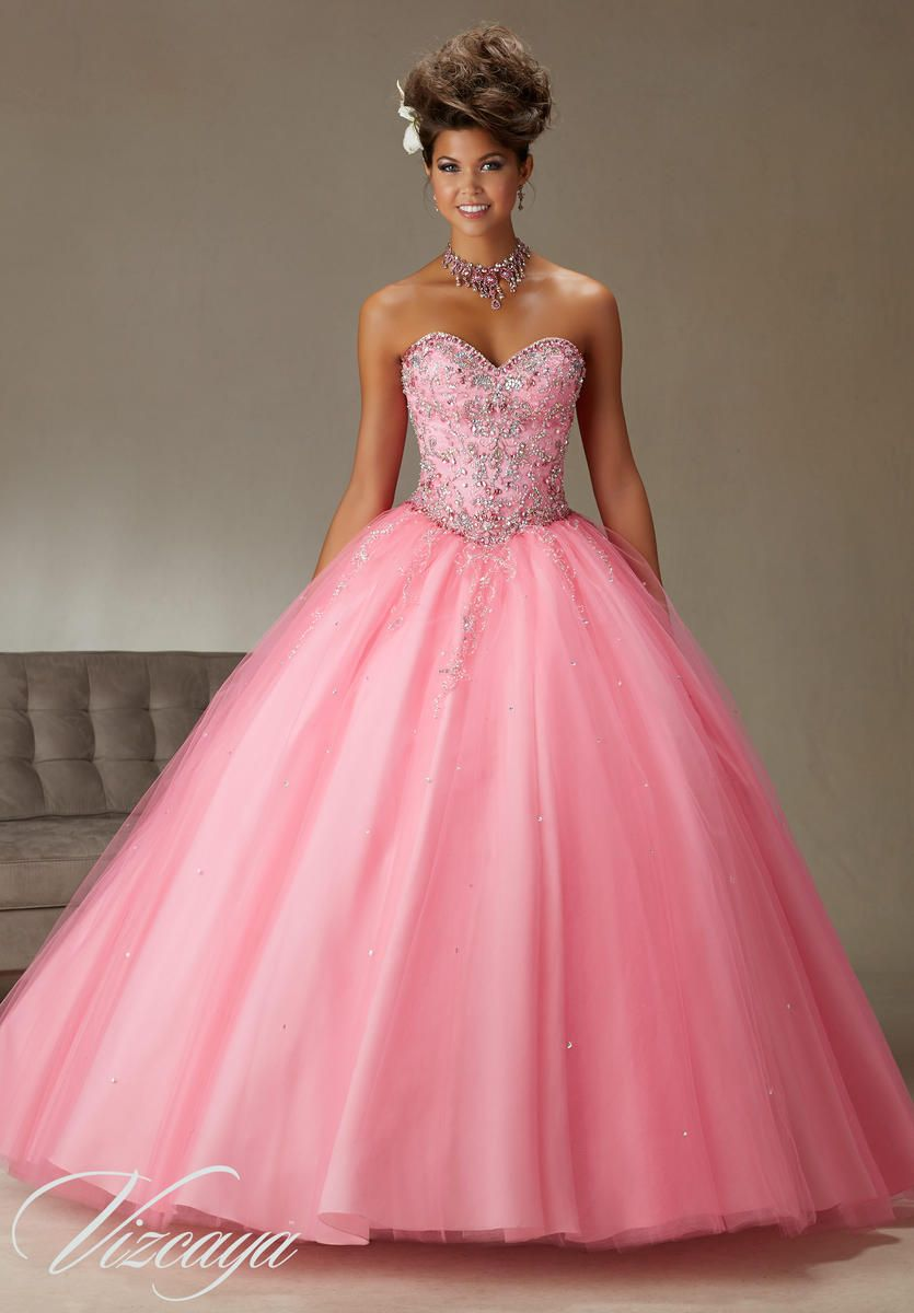 Vizcaya 89062 Tulle Quinceanera Dress With Bolero French