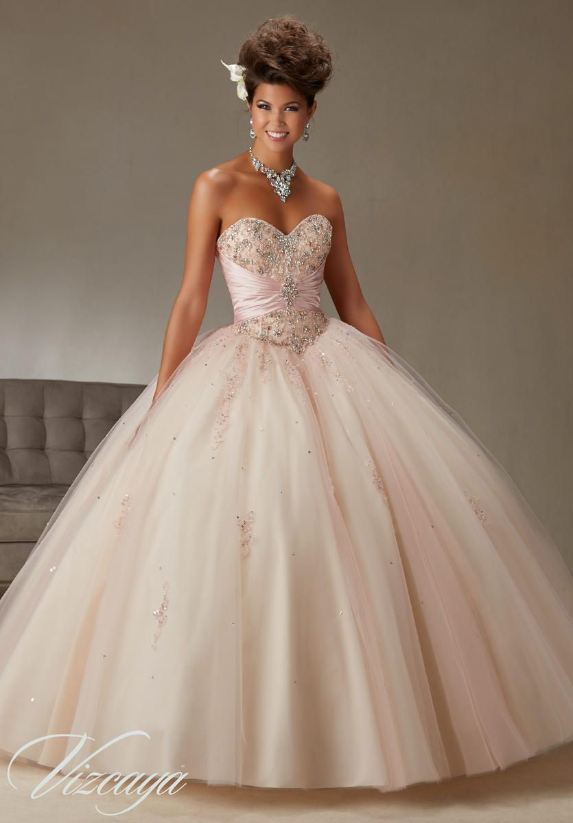 Vizcaya 89069 Beaded Quinceanera Dress French Novelty