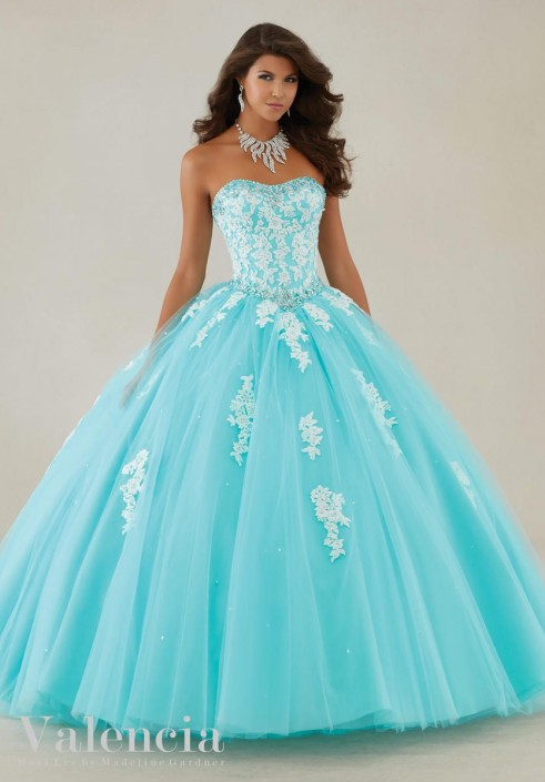42ee1d60b2 Valencia 89086 Corset Quinceanera Dress  French Novelty