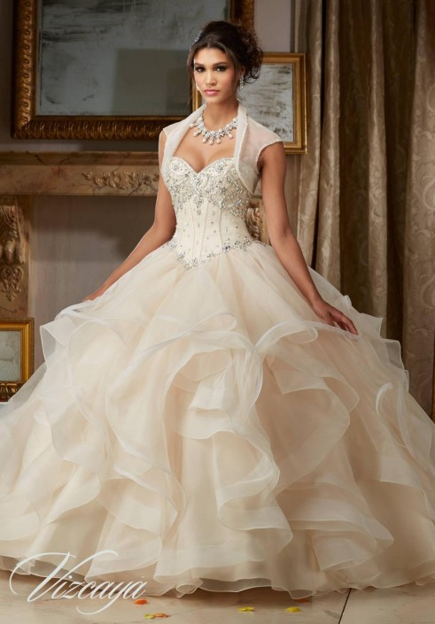 Vizcaya 89107 Flounce Organza Ball Gown: French Novelty