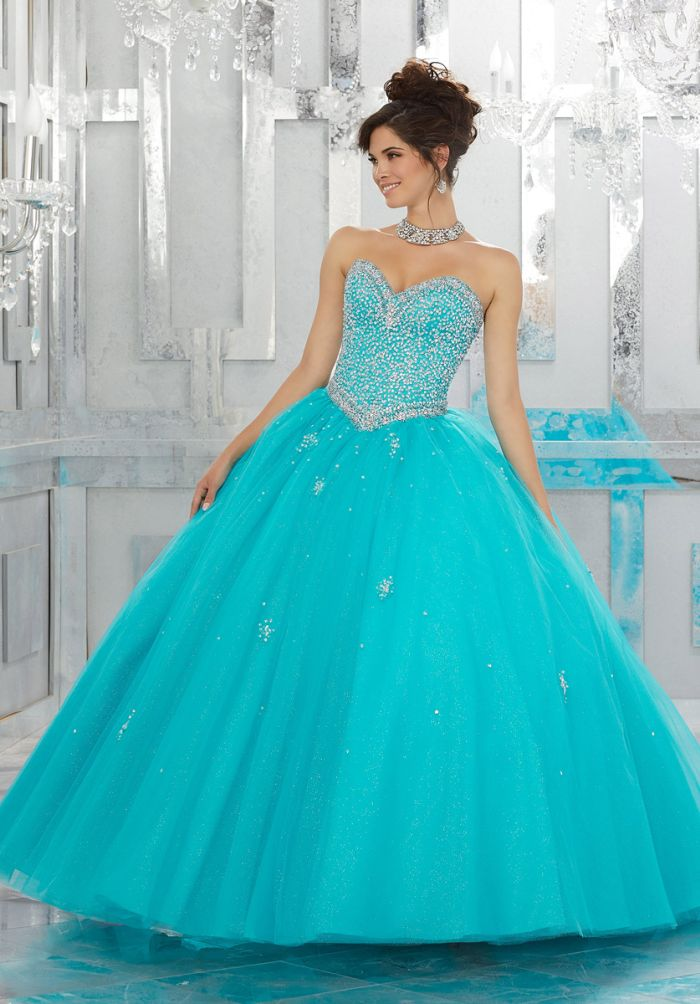 Vizcaya 89143 Elegant Quinceanera Dress With Sheer Bolero