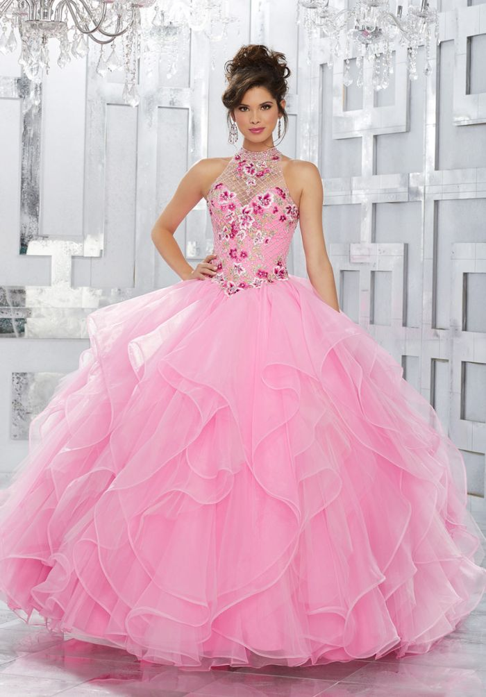 vizcaya 89149 floral embroidered quinceanera dress french