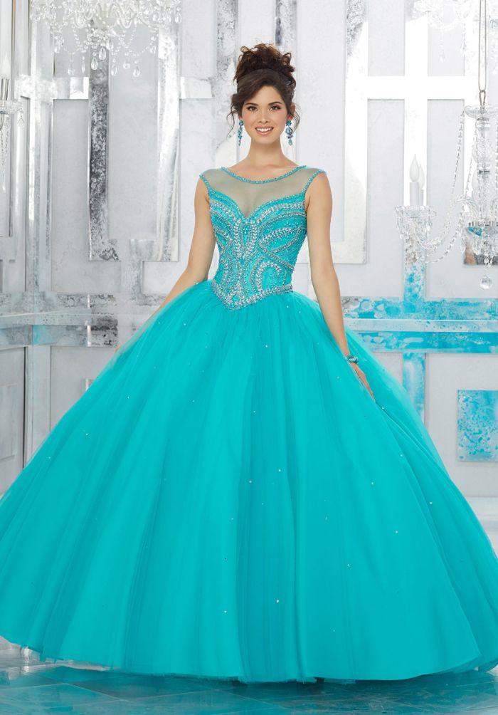 Vizcaya 89157 Beautiful Jewel Beaded Quinceanera Dress