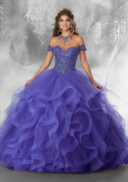 3d20ea0e3 Vizcaya 89185 Ruffle Quince Dress with Removable Sleeves  French Novelty