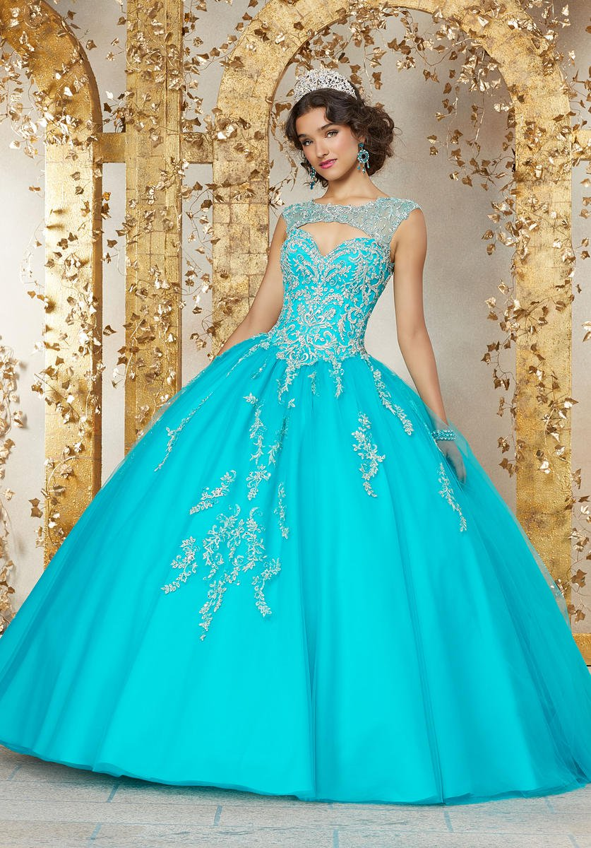 Vizcaya 89225 Sweetheart Keyhole Quinceanera Dress: French