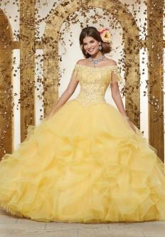 09c5c1c73af Floral Off Shoulder Quinceanera Dress By Mori Lee Vizcaya 89231 In