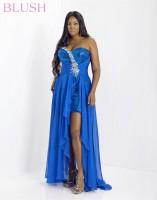 Blush W 9000W Plus Size High Low Dress image