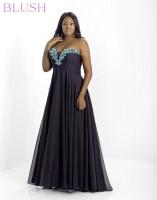 Blush W 9003W Plus Size Chiffon Evening Dress image