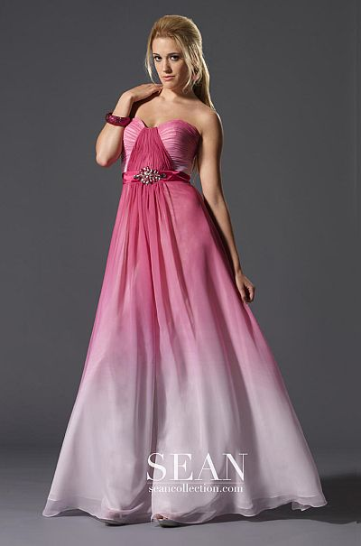 Sean Express Pink Ombre Prom Dress 90071: French Novelty