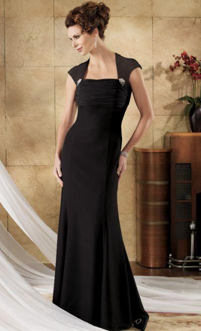 Caterina by Jordan Cap Sleeve Chiffon Mother of the Bride Dress ...