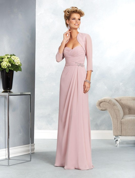 Mother of the bride long dresses with jackets