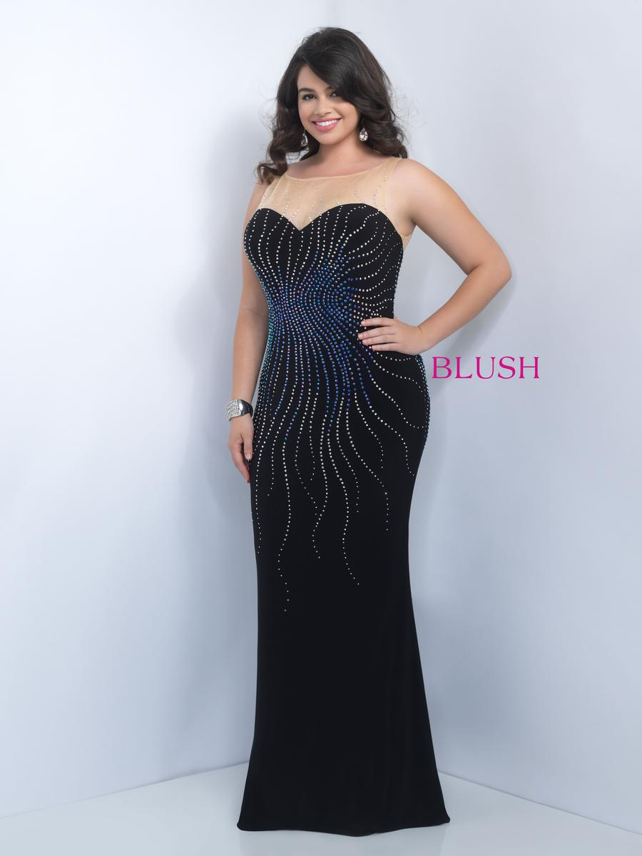 Size 14w Black Multi Blush Too 9101w Jersey Plus Size Prom