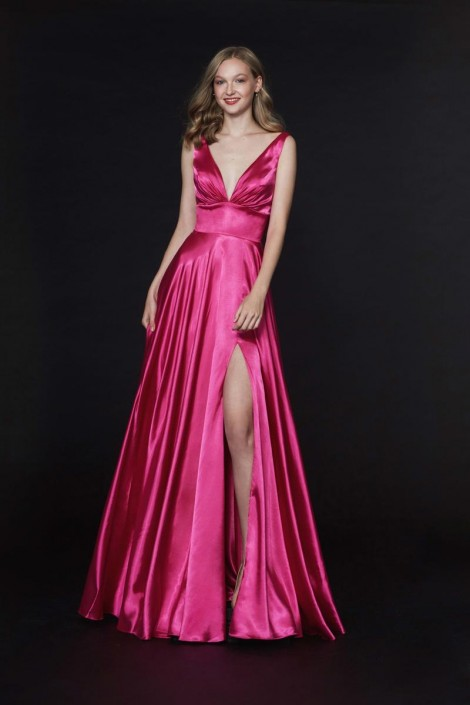 a0e2142404 Angela and Alison 91041 Prom Dress with Skirt Slit  French Novelty