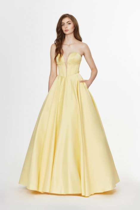 bf52061c33 Angela and Alison 91071 Prom Dress with Bow Back  French Novelty