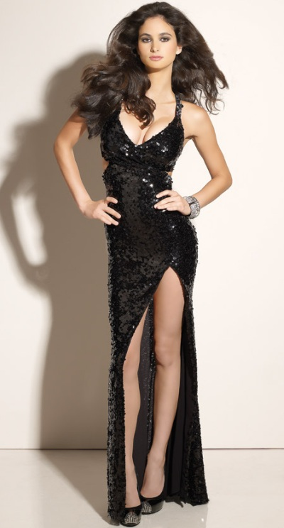 Black Sparkle Prom Dress