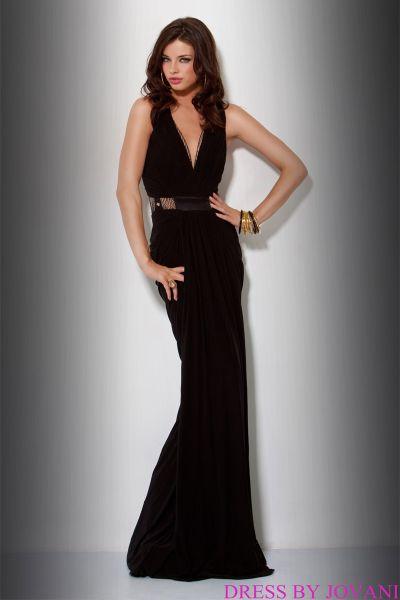 Jovani black jersey dress
