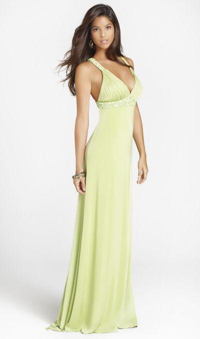 Elegant Jersey Beaded Strappy Back Blush Formal Dress 9223 French