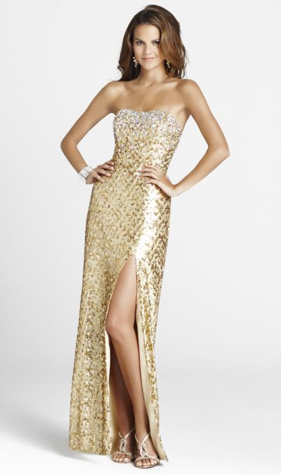 Blush Strapless Sequin Formal Dress 9244: French Novelty