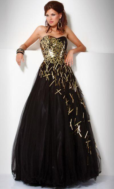 Jovani Criss Cross Metallic Tulle Formal Dress 9254